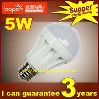 Free shipping Hottest BOPO 3W 5W 7W  E27 B22 85~265V Ultra bright LED bulb Plastic ball bubble  110V 220V LED lamp  led light