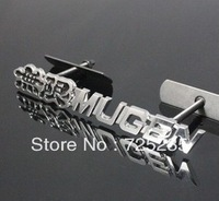 Free Shipping black MUGEN 3D Metal Front Hood Grille Badge Grill Emblem Auto Stickers Car LOGO for Honda G39