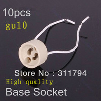 10x GU10 gu5.3 Base Socket Lamp Holder Ceramic Wire Connector CE&ROHS +free shipping