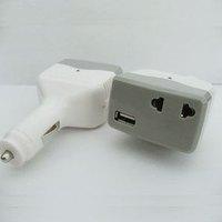 FREE SHIPPING Car mobile phone power converter car inverter transformer 12v 110v belt  ac dc power inverter charger
