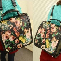 Fashion New  Printing Package Roses Portable Female  Diagonal Shoulders Back Bag Hot Products