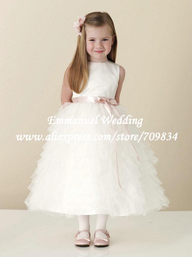 Layered Tulle Flower Girl Dress And Pink Flower Girl Dress