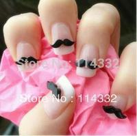 200pcs/bag 3d nail art decoration uv gel acrylic nails Cute Black Mustache for nail Resin Decoration Nail Art Decorations