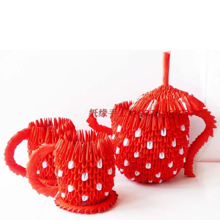 Чайник составляют 3d оригами