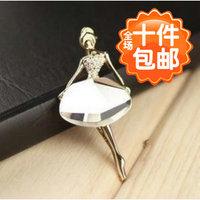 1257 small accessories ballet girl elegant brooch
