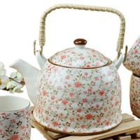 Set porcelain tea set porcelain gift 7 beam pot tea set