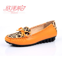 2013 round toe flat-bottomed single shoes female casual bow flat heel gommini loafers