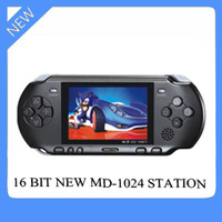 Best Quality and Best reputation 16 bit MD1024 handheld game console station on sales with console video game