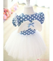 2013 New Arrival!!Girls Angel Wings Dress Children dot tutu dresses (5pcs/lot)size 90-100-110-120-130 Hot Sell Free Shipping