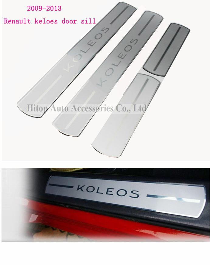 Top selling! Renault Koleos door sill/ QM5 door scuff plate top quality stainless steel(exterior)+PVC(interior) 2008