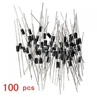 Free Shipping 100x IN4007 DO-41 Rectifier Diode 1A 1000V