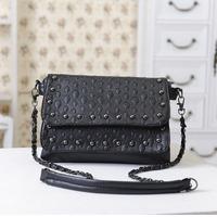 2013 skull rivet vintage bag all-match bag handbag shoulder bag messenger bag female bags