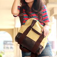 Shoulder bag student school bag backpack handbag canvas bag messenger bag travel bag backpack women's handbag