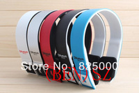 Free Shipping Wireless Bluetooth stereo headset headphone with mic for cellphone ,PC ,MP3 MP4, Bluetooth headset speaker