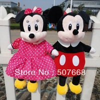 1 pcs Children backpack/cartoon double shoulder pack/wool cloth with soft nap bag/Minnie/mickey small bags