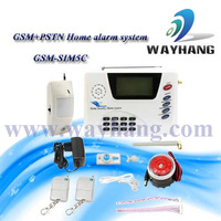 Wholesale-99 Wireless zones GSM &PSTN Dual Network Home Security System House Alarm with SIM Auto Dialer 6 Zone