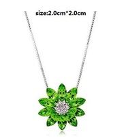 Hot sell CY001 free shipping  Flower  necklace Fashion Special Austrian Crystal SWA Element Super price