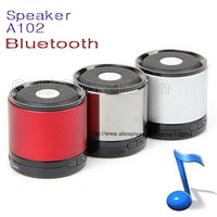 Lowest Price  10PCS A102 Rechargeable Bluetooth Wireless Music Speaker USB 3.5mm FM for iPad iPhone 3 4 5