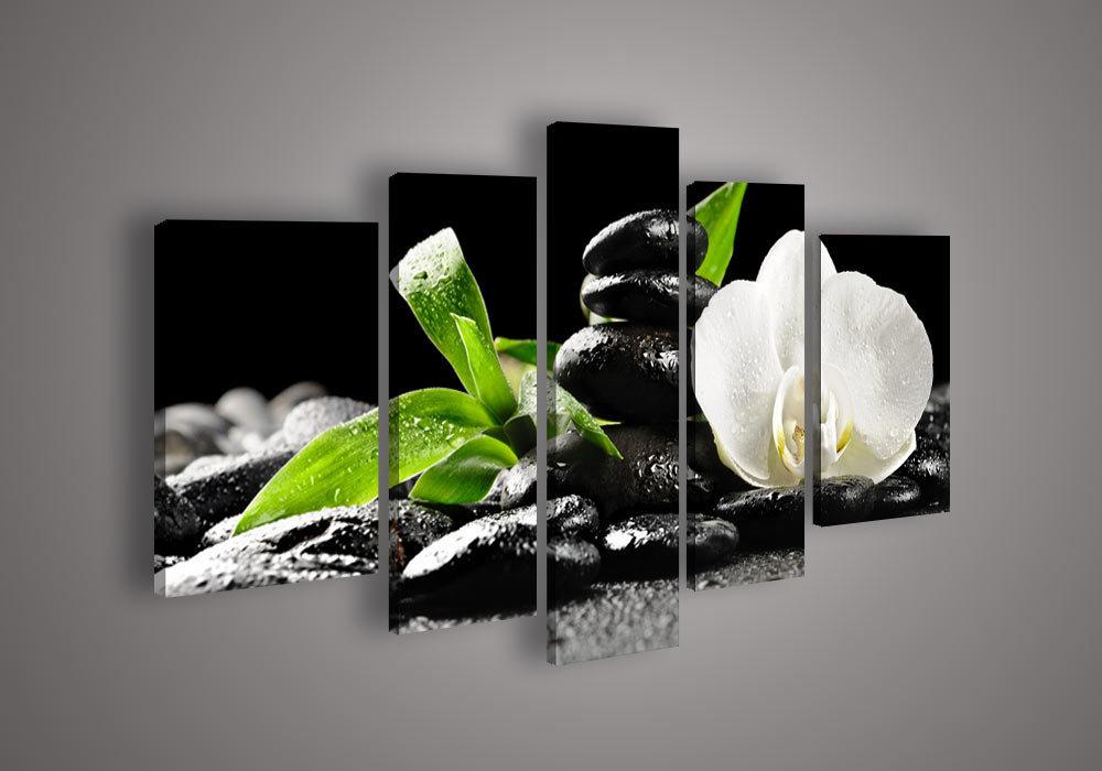 Cuadros modernos flores abstractos decoracion car - Estudiar feng shui ...
