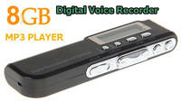 Real 8GB Digital Voice Recorder Dictaphone mp3 Player Support Telephone recording