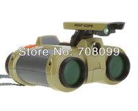 FedEx Free Shipping  Wholesales  192pcs/lot   4 x 30mm Night Scope Binoculars with Pop-up Light Night  Telescope