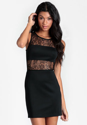 Nothing to hide cutout bodycon lace tank dress(China (Mainland))