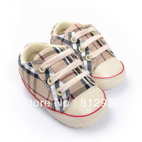 Free shipping wholesale 2013 fashion super cool plaid lace-up sports shoes styles BB  shoes/infant shoes/prewalkers