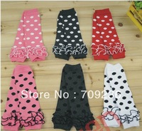 Wholesale-baby lace leg warmers knee pad children legging Kids toddler High socks stocking 3 colors mix