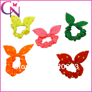 40 piece/lot rabbit ears headband dot hair accessories chiffon headband CNHBD-130603