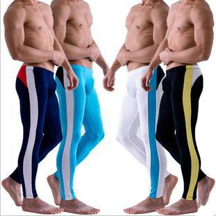 Thermal underwear casual men black white blue body-building men warm inter trousers big size novelty  bodybuilding pants D197