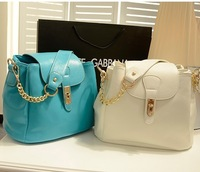 2013 NEW Hot Selling Womens Pu Metal chain Shoulder Bag Handbag Hobo  Free Shipping 31364