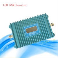 Newest GSM980 900MHZ 2000 square meters Mobile Phone Signal Amplifier booster with crystal screen Free shipping