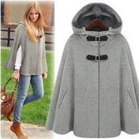 Gossip Girl 2014 new fashion british style elegant women's cloaks winter women's solid color long wool coats  T097