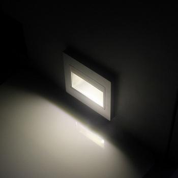 2 yesrs warranty  Energy saving 1.2W LED step light LED stair light wall light corridor pathway light 6pcs/lot