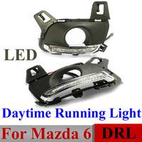 Top Quality 1:1 DRL For Mazda 6 Mazda6 Daytime Running Lights LED Daytime Daylight DRL Auto Car DRL Fog Lamp Free HongKong Post