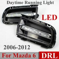 DRL Mazda 6 Mazda6 2006 2007 2008 2009 2010 Daytime Running Lights LED Daytime Daylight DRL Auto Car DRL Fog Lamp Free HK Post