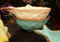 Ocean ceramic litas fish bowl plate fruit plate dessert plate decoration