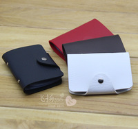 Free Shippion Card holder bank card bag cowhide  case credit bag large capacity multi card holder White Black  case