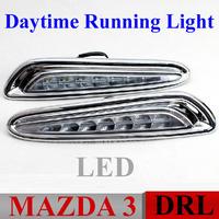 Top Quality ! DRL Mazda 3 Mazda3 Daytime Running Lights LED Daytime LED light Daylight DRL Auto Car DRL Fog Lamp Free HK Post