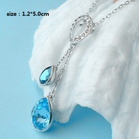 Hot sell CY041 free shipping Water Drop necklace Fashion Special Austrian Crystal SWA Element Super price