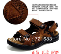 Camel male sandals slippers genuine leather cowhide male sandals outdoor casual dual-use leather sandals