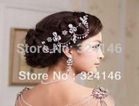 New Arrival Luxurious  rhinestone hair Jewelry fashion wedding crown bridal accessories