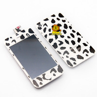 Free shipping spotty dog Plating LCD display+digitizer+frame+back cover for iphone 4/4G  Mirror