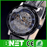 2013 New Arrival Stylish Amazing Mechanical wind up watch of best Fashion Wristwatch on sale in BANNET promotion free delivery