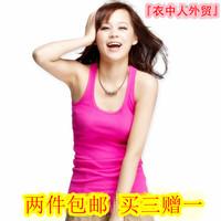 100% modal cotton vest spaghetti strap basic candy color all-match