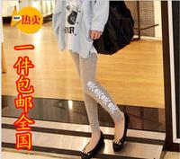 Modal women's large elastic slim skull print legging skinny pants