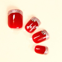 Nail tips  Fake nails Mini super adhesive  claretred bride s Nail art