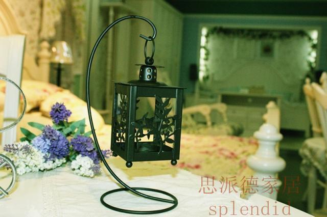 Decoração de casa rústica acessórios de moda casa decoração fashion ferro forjado preto folhas forma pendurado mousse(China (Mainland))