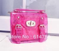 2013 New Arrived  Hot transparent Mini candy bag  women's PVC  jelly handbags fashion beautiful Mini bag C012