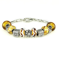Freee shipping 30% 0ff  Bargin Price Womens unique designs AMBER PATTERNS lampwork glass beads bracelets